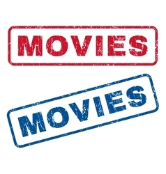 Movies rubber stamps vector