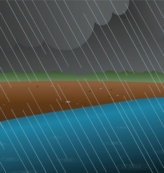rainy river vector image