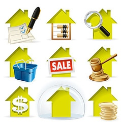 Real Estate Transactions vector image vector image