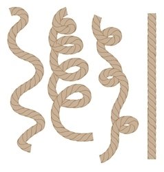 Rope set isoated vector