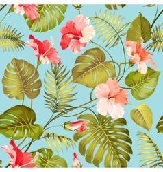 Seamless tropical flower vector