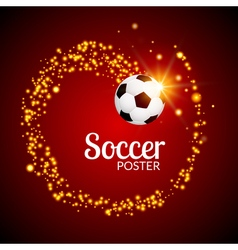 Soccer abstract background poster football design vector