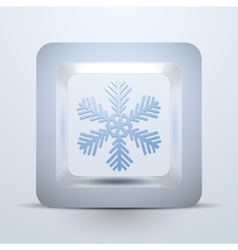 Symbol snowflake of Christmas and New Year vector image vector image