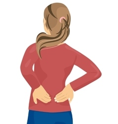 Woman having pain in her back vector
