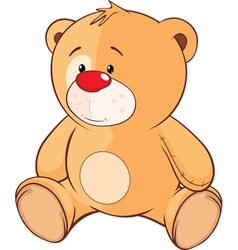 Stuffed toy bear cub cartoon vector