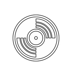 Vinyl music record icon outline style vector