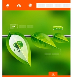 Nature leaves infographic banner vector image