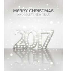 2017 new year symbol with light bulbs and vector
