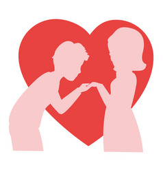 Beautiful and romantic couple vector