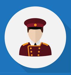 of job symbol on porter flat vector image