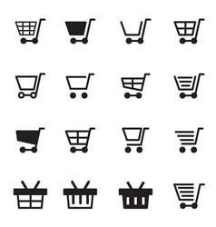 shopping cart basket icon vector image