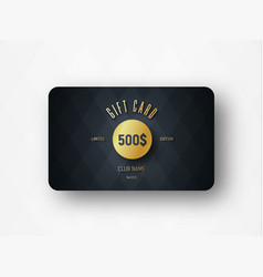 Template of a premium gift card with a gold vector