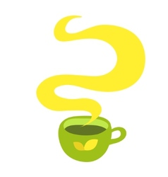 Cup of hot drink coffee tea etc vector