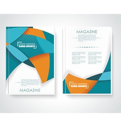 Geometric design business brochures magazines vector