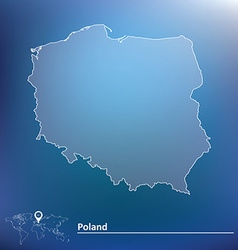 Map of poland vector