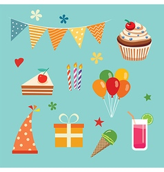 Happy birthday party set vector
