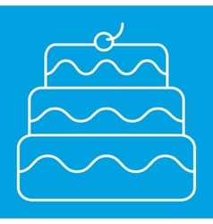 New birthday cake thin line icon vector
