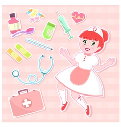 nurse set vector image