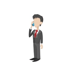 Businessman icon in cartoon style vector