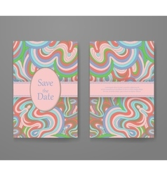Business card with vivid lines pattern vector