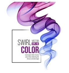 Abstract swirl violet background vector image