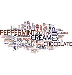 Best recipes peppermint cheesecake text vector
