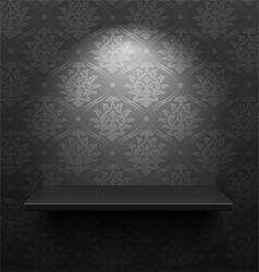 Black shelf vector image vector image