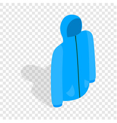 Blue ski jacket isometric icon vector