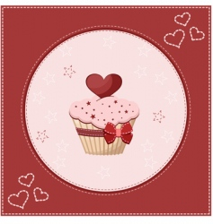 Cake greeting card vector