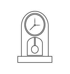 Clock pendulum time classic outline vector