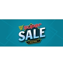 Colorful sale banner Super sale inscription vector image vector image