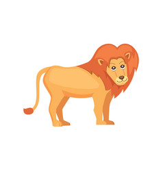 Cute cartoon lion isolated on white vector