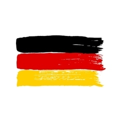 Flag of Germany on a white background vector image vector image