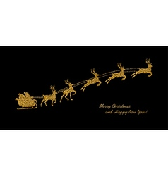 golden and black card vector image vector image