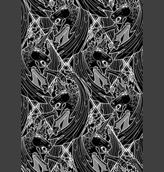 graphic demonic unicorn vector image vector image