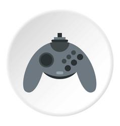 Gray joystick icon circle vector