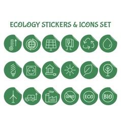 Green ecology and environmental protection vector