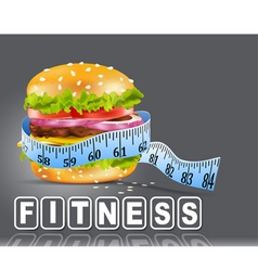 hamburger fitness vector image