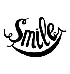 Hand Drawn Lettering Word Smile vector image