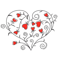 heart of hearts vector image vector image