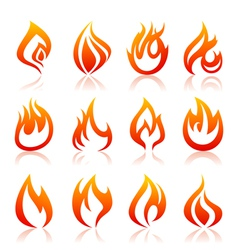 Icon fire vector image