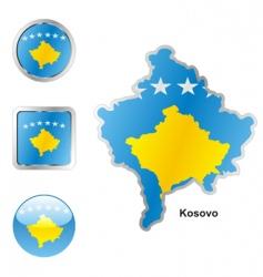 Kosovo vector image