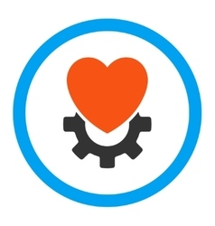 Mechanical heart rounded icon vector