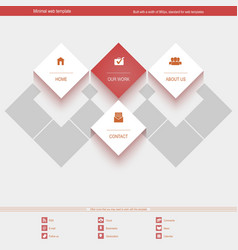 Minimal Web Template for corporate or portfolio vector image