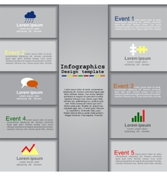 Modern infographics design template vector image