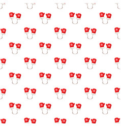 Red mittens pattern vector