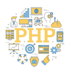 Round linear concept of php vector