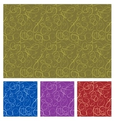 Seamless background in four color vector