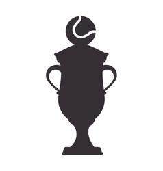 Trophy championship tennis icon vector