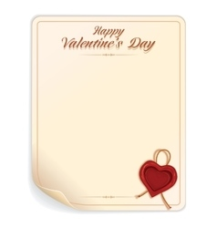 Valentines day letter with seal vector